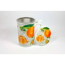 Taza 3pc con filtro y tapa Naranja