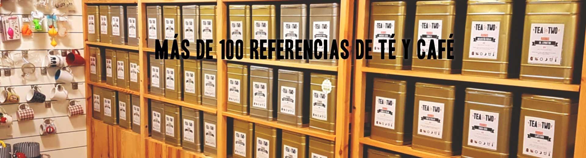 Amplio catálogo de tés e infusiones